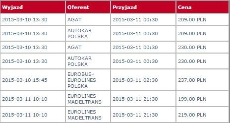 linie autokarowe niemcy polska
