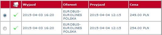 przewozy autokarowe eurobus eurolines polska holandia
